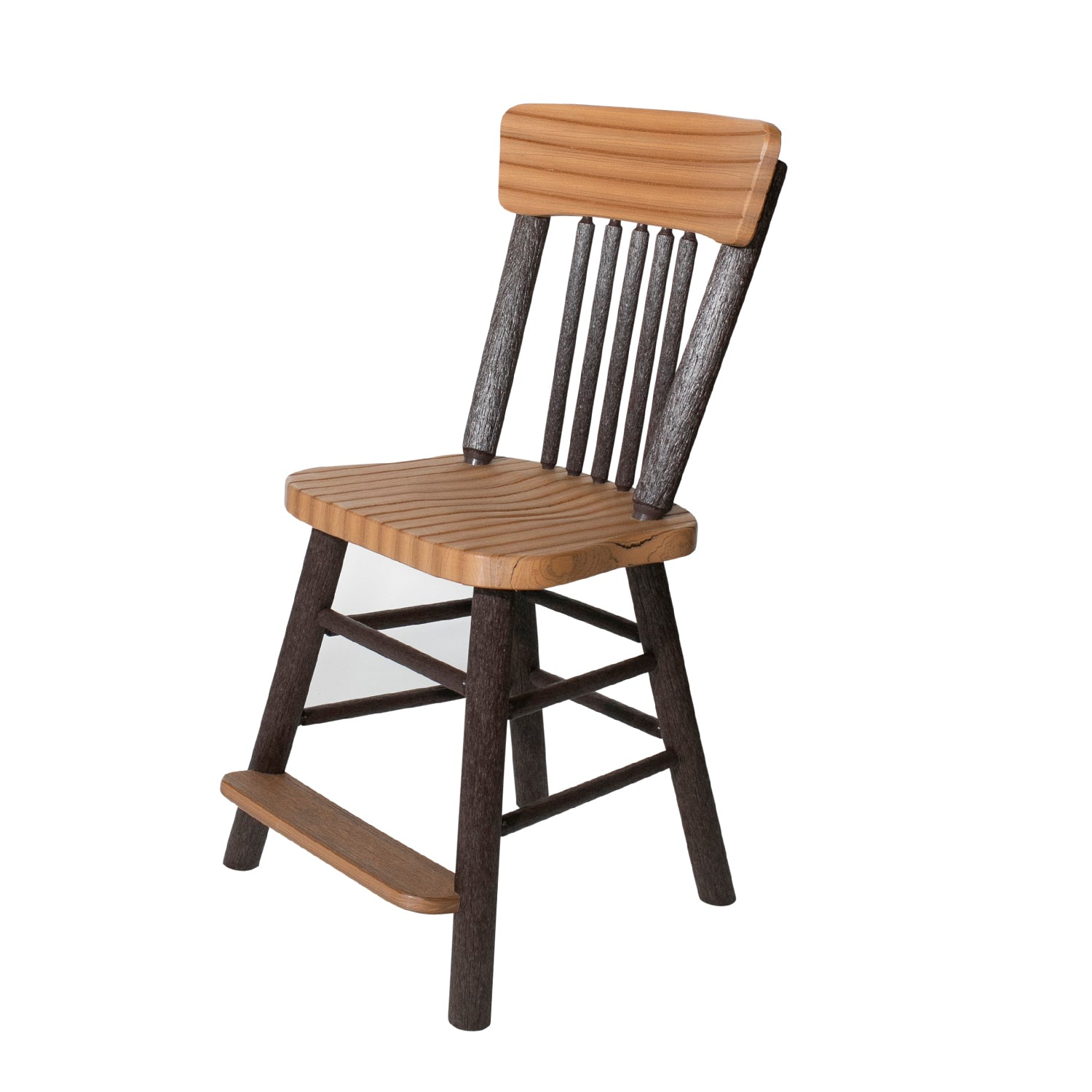 Great Woods Rustic PolyLog Balcony Height Side Chair