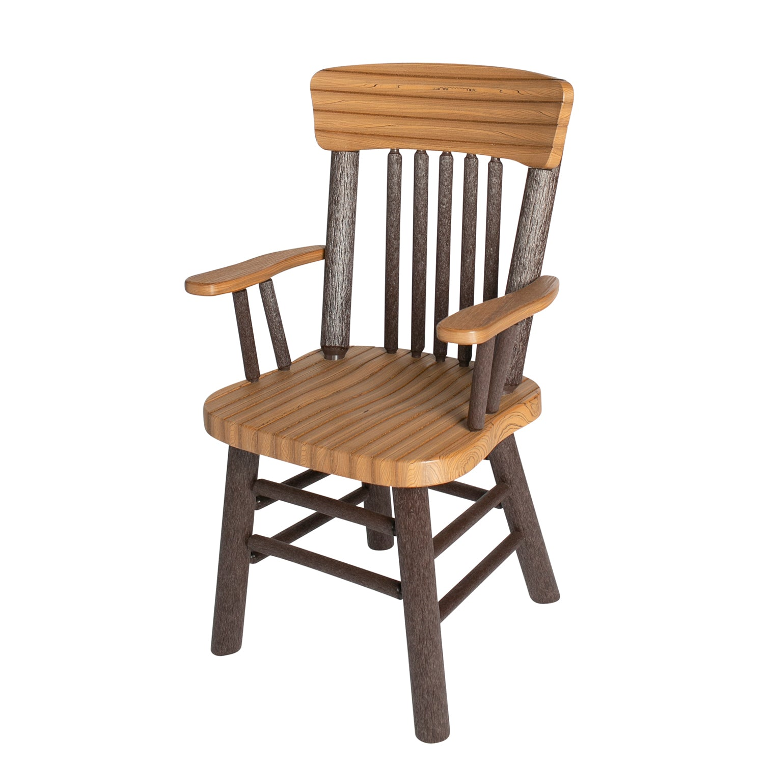 Great Woods Rustic PolyLog Dining Height Captain's Chair