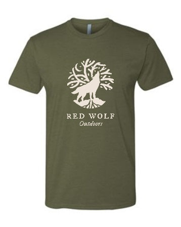 Crew Blend Red Wolf Outdoors T-shirt