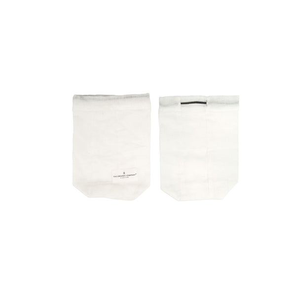 Small Food Bag in Natural White by The Organic Company