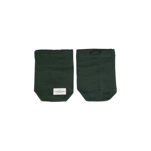 Small Food Bag in Dark Green by The Organic Company