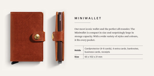 Miniwallet in Vintage Cognac Rust by Secrid Wallets