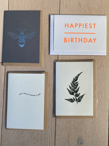 4 Card Bundle incl Father's Day | Ola | Made in the UK
