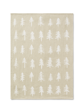 Christmas Tea Towel in Sand (Beige) by ferm Living