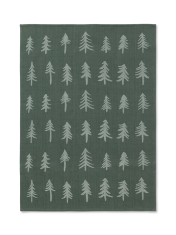 Christmas Tea Towel in Dark Green by ferm Living