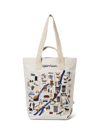 Copenhagen Embroidered Tote Bag by ferm Living
