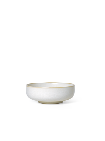 Sekki Medium Glazed Bowl - Cream - by ferm Living