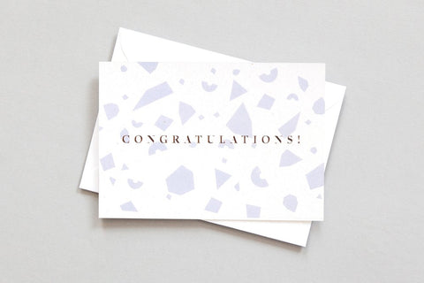 Congratulations Card Grey/Gold from Conscious Collection by ola