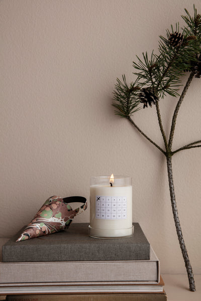Advent Christmas candle / calendar in Black - cinnamon scent - by ferm Living