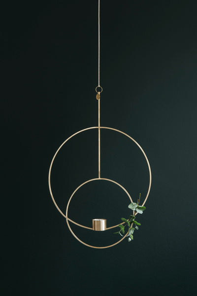 Round black hanging tealight - deco - by ferm LIVING