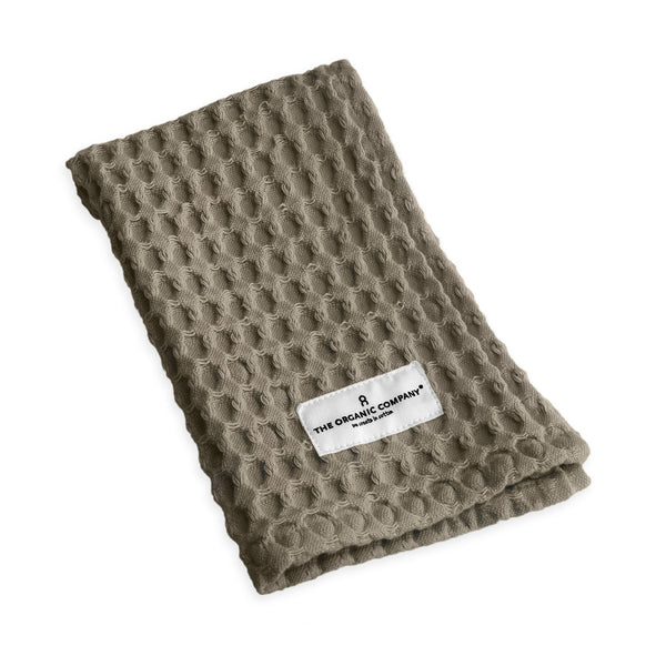 Big Waffle Kitchen and Wash Cloth in Clay by The Organic Company