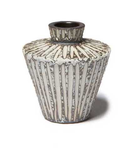 Vase Sonja mini Stone Stripe with gift box by Lindform