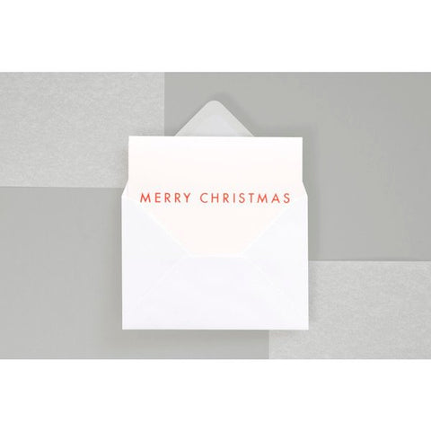 Pack of 6 Merry Christmas in Foil Illustration with Envelopes by ola