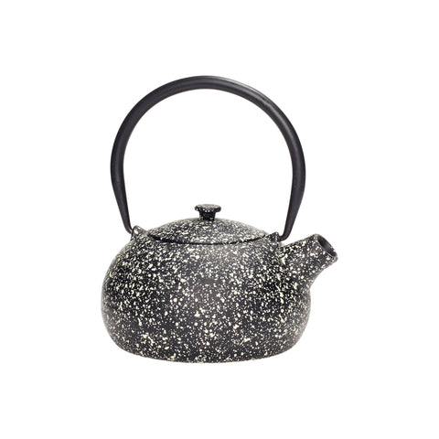 Teapot, iron, black speckled by Hubsch