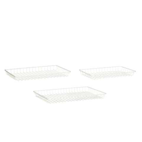 Tray White Set of 3 by Hubsch