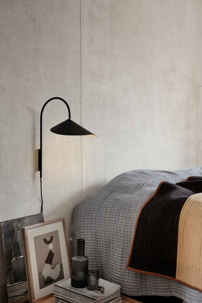 Arum wall lamp - black marble - by ferm LIVING