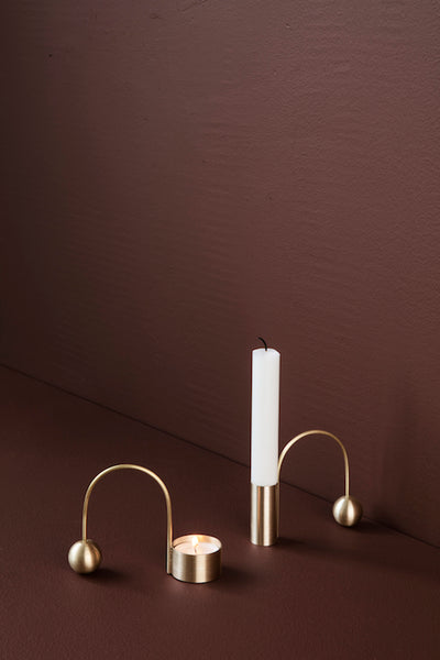 Brass tealight holder 'balance' by ferm Living