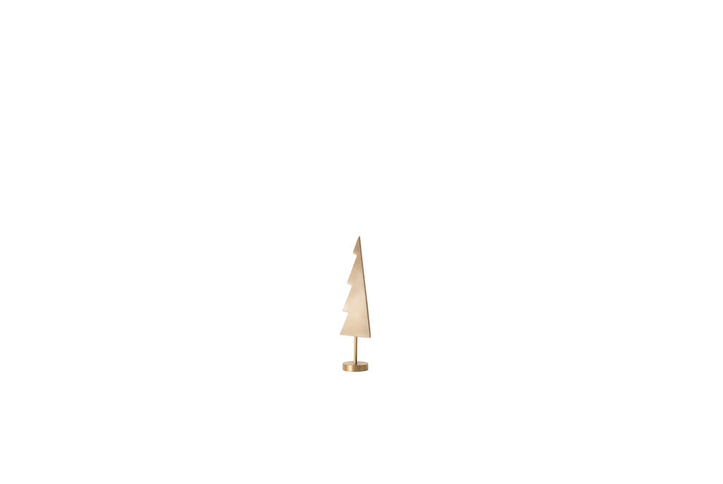 Winterland Brass Tree Solid Ornament by ferm Living