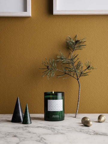 Advent Christmas candle / calendar in Green - cinnamon scent - by ferm Living