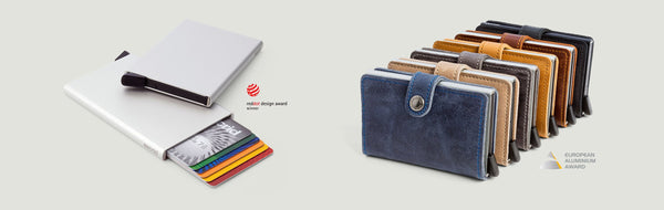 Miniwallet in Indigo 3 Leather by Secrid Wallets