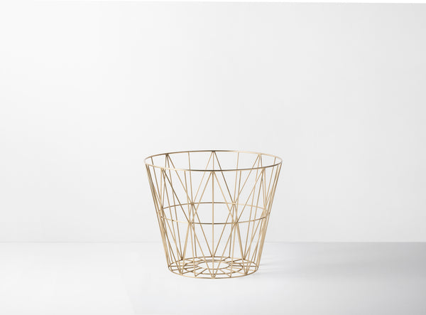 Brass wire basket - small by ferm Living