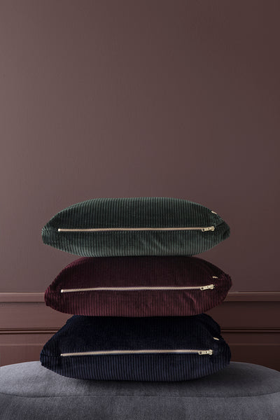 Corduroy cushion Green by ferm LIVING