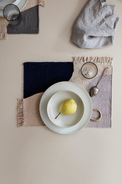 Earth Place Mat - Grey or Dark Blue - by Ferm Living