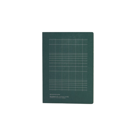 Geometric Notebook in Dark Green - Small - with sketch pages - by Monograph