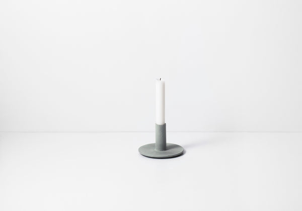 Cast Iron Candle Holder - Dusty Green Grey - by ferm LIVING