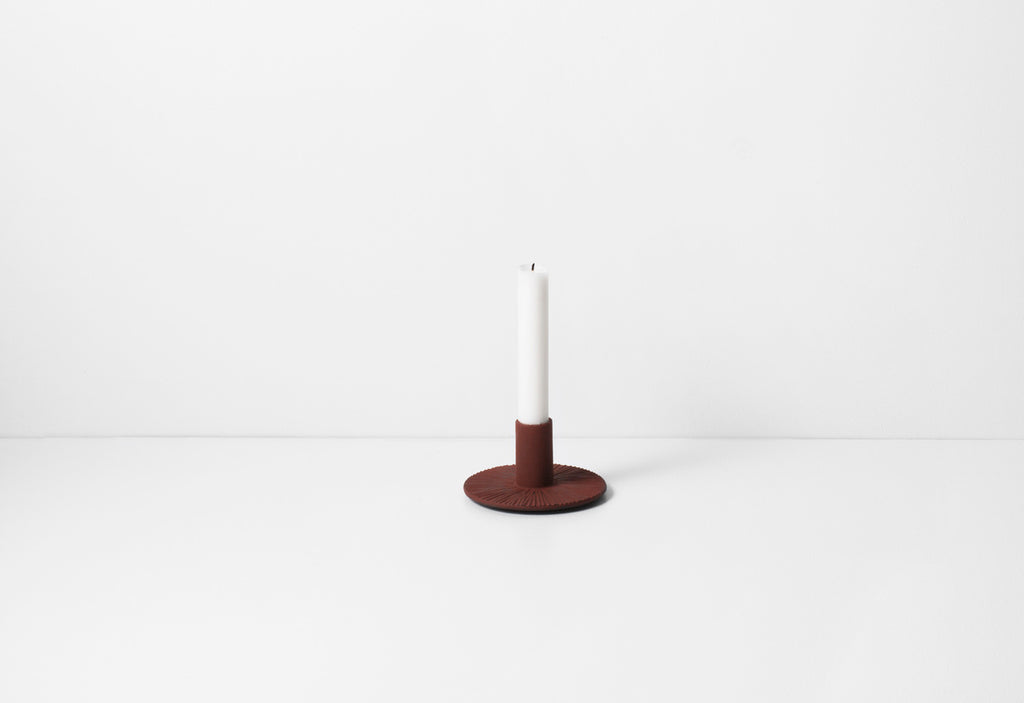 Cast Iron Candle Holder - Rust - by ferm LIVING