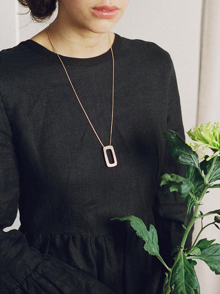 Ellsworth necklace in Brushed Brass by Wolf & Moon