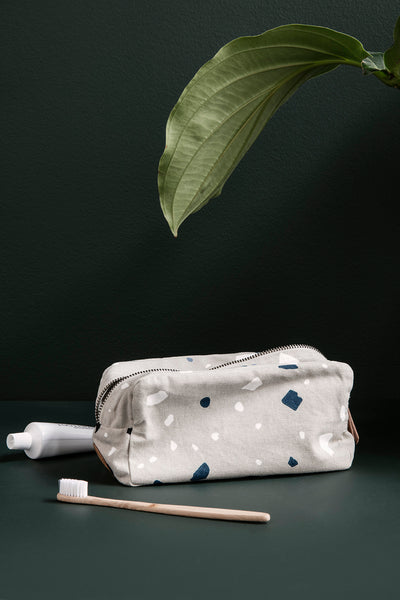 Toiletry Bag - Terrazzo - Grey by ferm LIVING