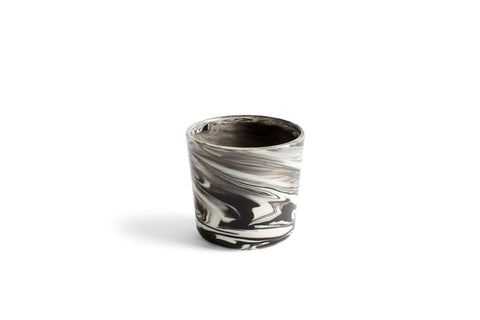 Ceramic mug - marbled, handleless by HAY