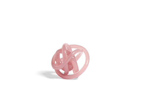 Glass knot in transparent nude / pink | Small