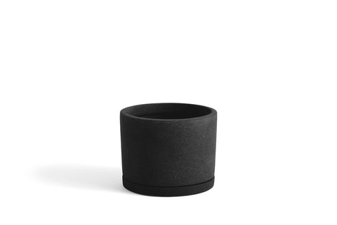 Black Plant Pot with Saucer in Large - new AW 2019 - by HAY
