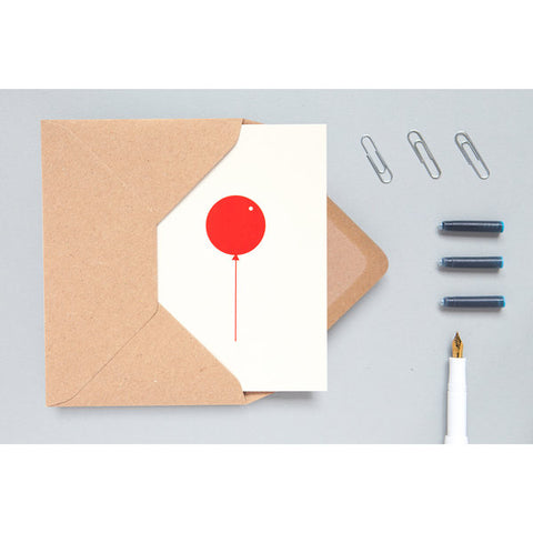 Balloon Card Light Red/Stone by ola