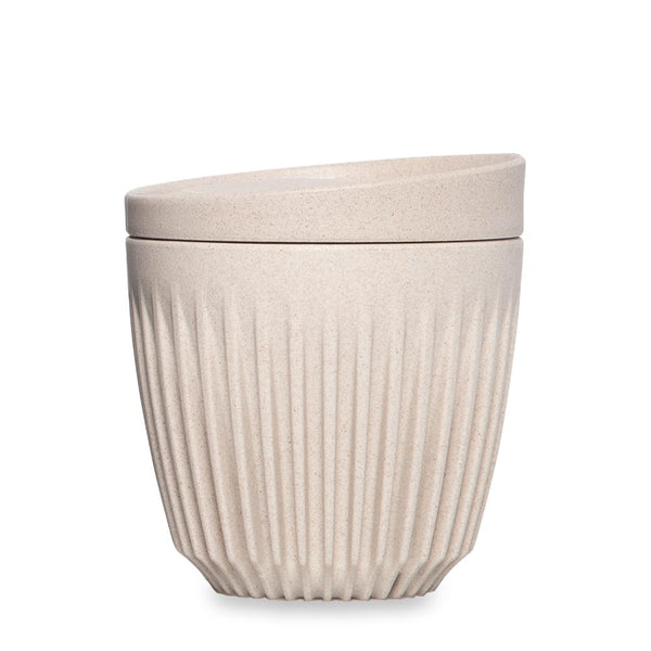 Huskee Reusable Cup and Lid - 6oz Natural Creamy White