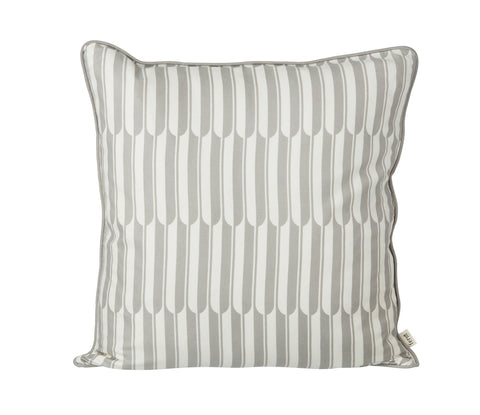 Arch cushion 'landscape' in grey and off-white by ferm LIVING