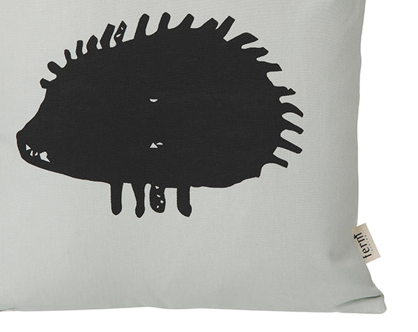 Hedgehog Cushion in Mint by ferm LIVING
