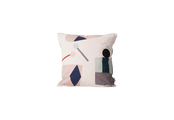 Party cushion in off-white and multi by ferm LIVING