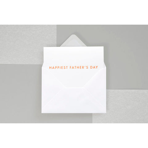 HAPPIEST FATHER'S DAY Card Orange/White by ola