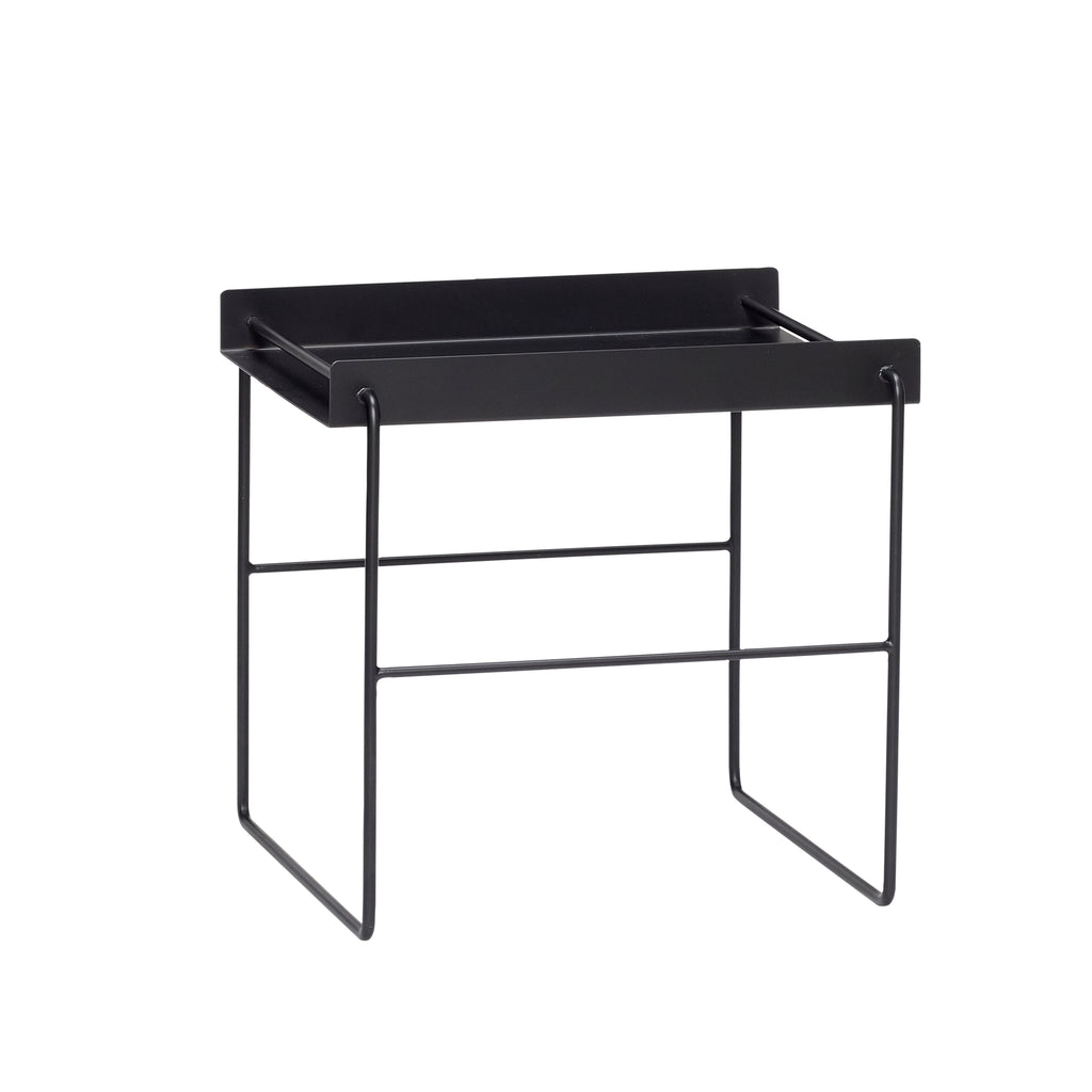 Table, Square, Black Metal by Hubsch
