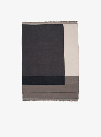 Colour Block Throw - Grey by ferm Living