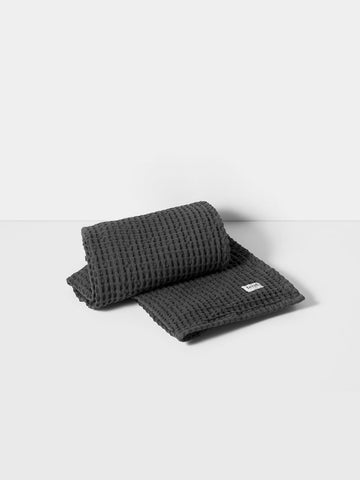 Organic Bath Towel in Grey Waffle by ferm LIVING