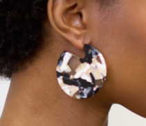 Clare Earrings in Abalone by Machete