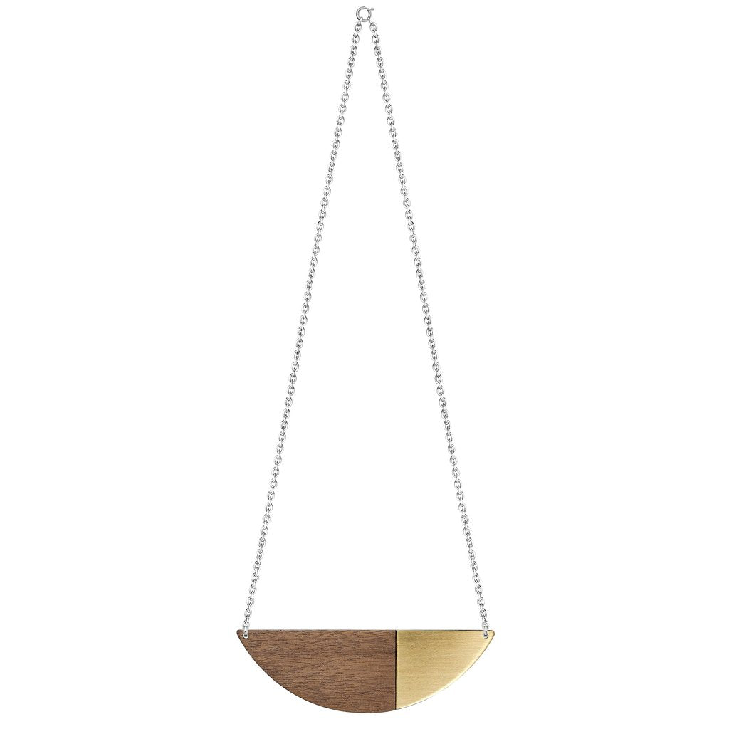 Alexandra Necklace in brass by Form London