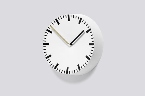 Analogue Clock in White by HAY