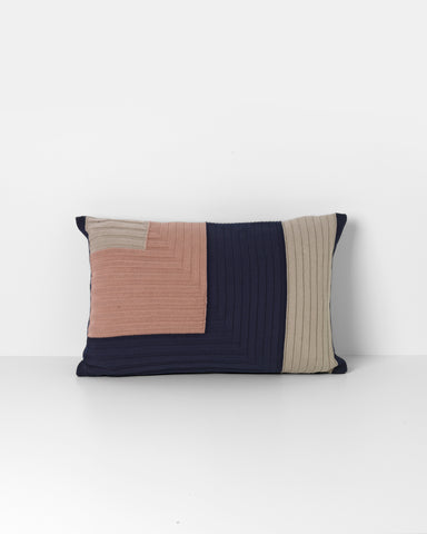 Angle Knit Cushion - Dark Blue - by ferm LIVING