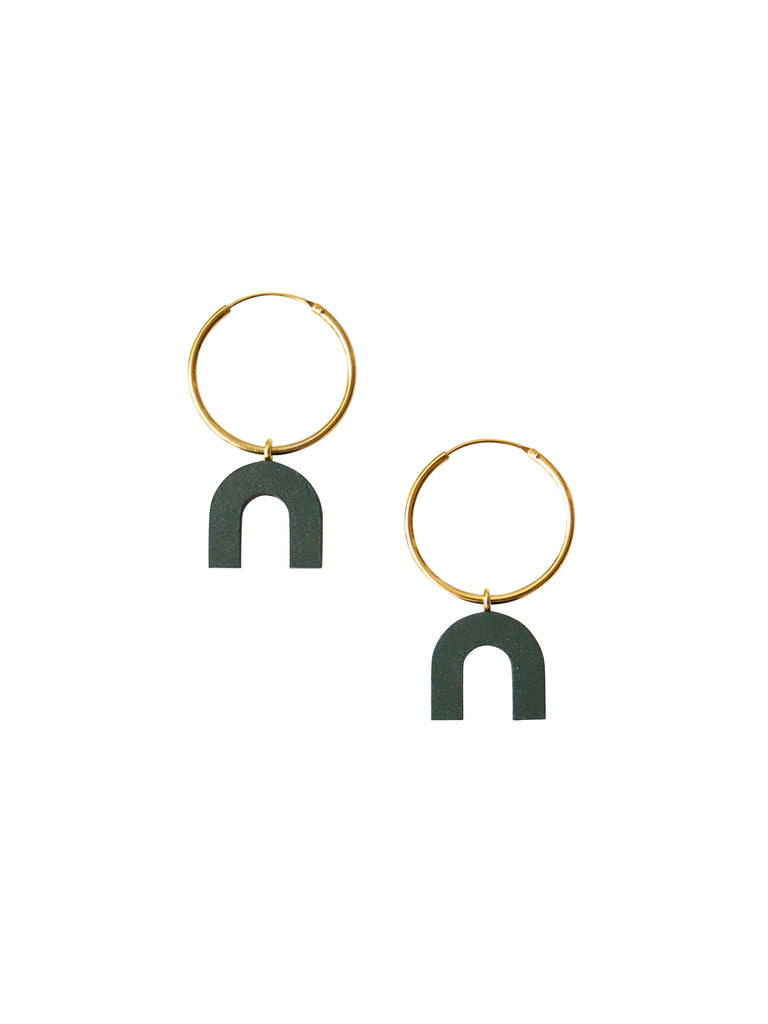 Arch Hoops in Spruce Green by Wolf and Moon