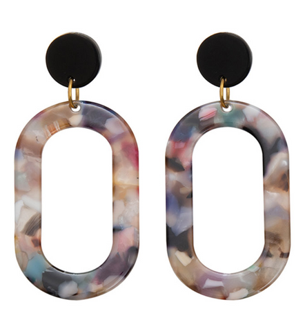 Ava Earrings in Resin by Weathered Penny